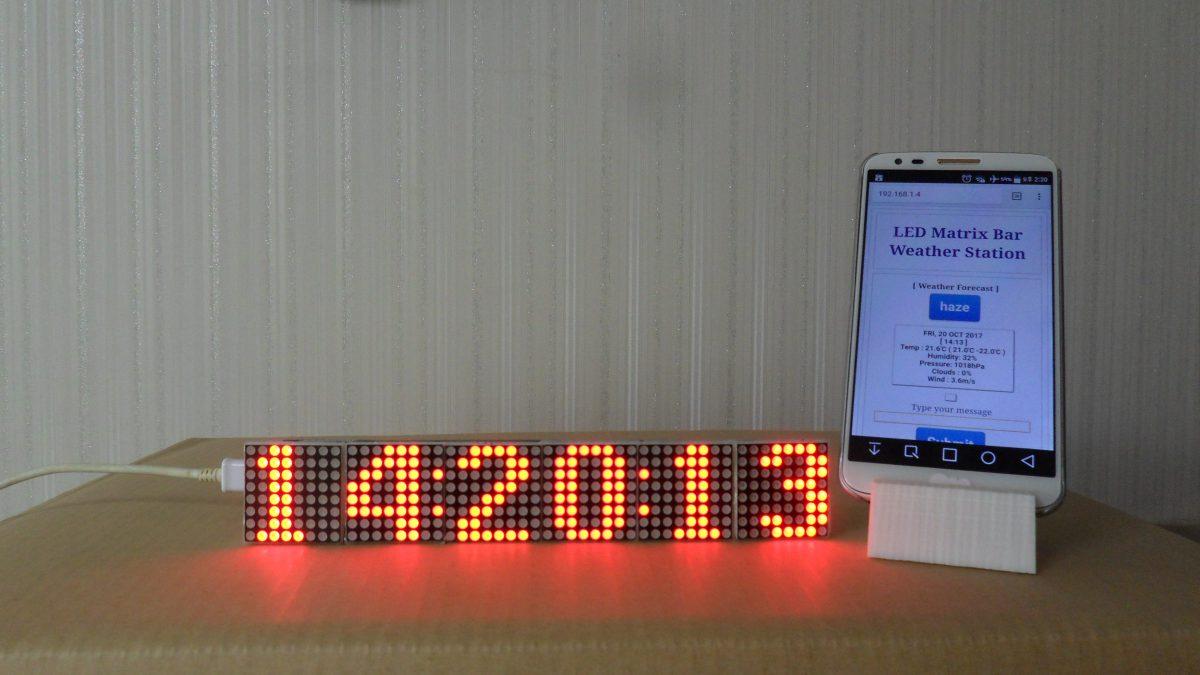 LED Matrix Bar Weather Station V1