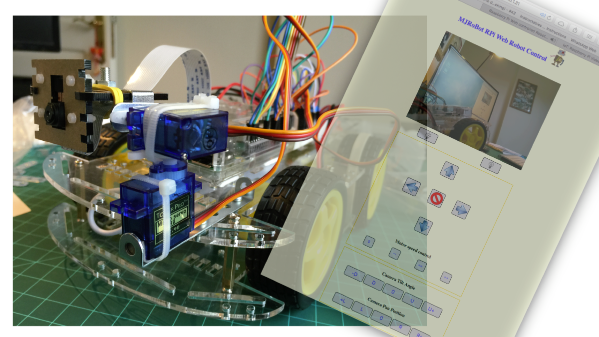 Internet 제어 Raspberry Pi Camera Rover (Robot)